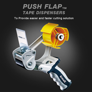 PUSHFLAP Tape Dispensers