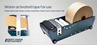 Kraft Gummed Paper Tape Dispenser - For Water Activated Tape