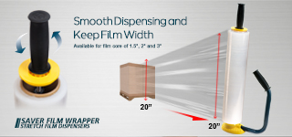 "Saver Film Wrapper - For film core of 1.5"", 2"" and 3"""